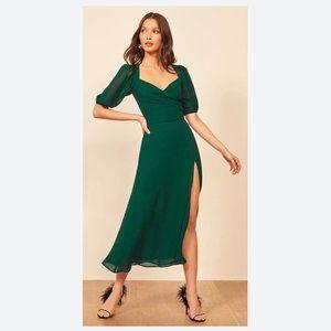 REFORMATION Wildflower Dress Emerald